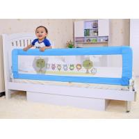 Wholesale Blue Adjustable Folding Baby Bed Rails , Cartoon Safety Bed Rail from china suppliers