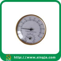 Wholesale Metallic edge hygrothermograph for sauna room from china suppliers