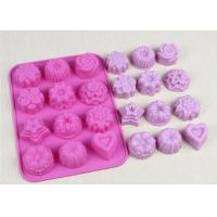 Wholesale Christmas Flexible Silicone Cupcake Mold Non - Stick Durable Pink from china suppliers