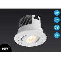 Buy cheap 10W Adjustable COB LED Spot Light Ceiling LED Down Light CE RoHS Approved Cut Out 83mm from wholesalers