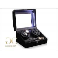 Wholesale Rotations Watch Winder / Black Watch Winder Box With Led Lights from china suppliers