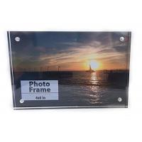 Wholesale Pure clear square 4x6 hot selling desktop acrylic photo frame from china suppliers