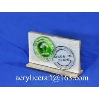 Quality POP acrylic logo block /acrylic logo display stand / acrylic logo holder for sale