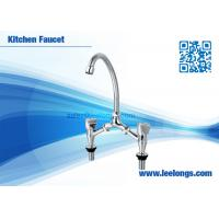 Wholesale Antique Double Handle Kitchen Basin Faucet Chrome / Polished For Home from china suppliers