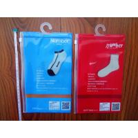 Wholesale Waterproof Transparent PVC Pothook Plastic Pouches Packaging For Socks Clothes from china suppliers