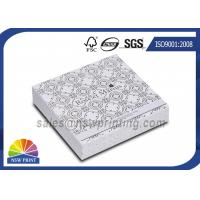 Quality Handmade Delicate Rigid Slide Box Silver Cardboard Liners Paper Drawer Box for sale