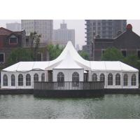 Wholesale High Peak Shape Wedding Party Tents Canopy 10M X 20M White Ceiling 850G/㎡ White PVC Cover from china suppliers
