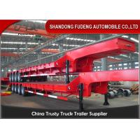 Wholesale 4 Axles Low Bed Trucks 100Tons 3 Axles Lowbed Trailers Mechanical Suspension And Air Suspension from china suppliers