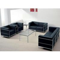Wholesale 3 Seater Contemporary Leather Sofa Upholstered Back With Stainless Steel Frame from china suppliers
