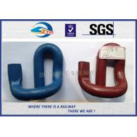 Wholesale Corrosion Resistance 60Si2CrA E Shape Elastic Rail Clips / Rail Fast Clip from china suppliers