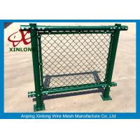 Wholesale 50 X 50 Mm Pvc Coated Chain Link Fence For Playground Iron Wire Material from china suppliers