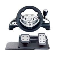 Quality multi-interface gaming racing wheel steering wheel with foot pedal forPC (Direct-X & X-INPUT) /PS3 /PS4 for sale