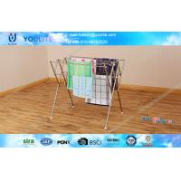 Wholesale Space-saving Simple Standing Clothes Drying Rack Stainless Steel from china suppliers