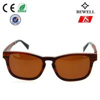 Wholesale Square Women Wood Frame Sunglasses With Tac Polarized Mirror Lens from china suppliers