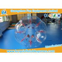 Wholesale Red String Clear Human Inflatable Bubble Ball 1.5m / 1.8m Inflatable Bubble Soccer from china suppliers