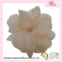 Wholesale 4 Inch beautiful Handmade fabric flowers With Diamond Organza Material from china suppliers