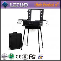 Wholesale cosmetic case makeup case with lights lighting makeup case with stand from china suppliers