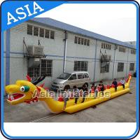 Wholesale Yellow Dragon Banana Shaped Inflatable Boats 12 Person Water Sport Games For Adult from china suppliers