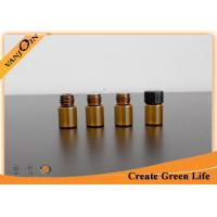 Wholesale Custom 2ml Amber Glass Vials Wholesale With Plastic Cap and Orifice Reducer from china suppliers