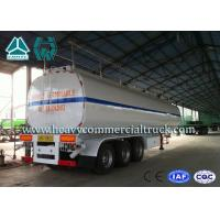 Quality 54 m3 High Performance road tank semi trailer  For Oil Carrying 55 Tons - 75 Tons for sale