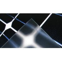 Wholesale Clear Textured Solar Panel Glass Heat Reflective , Low Iron , Light Transmittance 91% from china suppliers