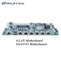 Wholesale I3 I5 I7 CPU 6 LAN Motherboard , LGA1155 Socket Firewall Appliance Intel Gigabit from china suppliers