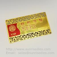 Wholesale Etched Metal Membership Cards, Custom Photo Etching VIP Member Cards from china suppliers