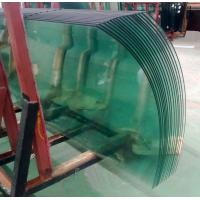Wholesale Light Green Safety Bent / Curved Tempered Glass Wall For Office Building ,hotel 12mm / 15mm / 19mm from china suppliers