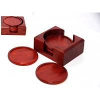 Wholesale Rosewood Round Cup Coaster set from china suppliers