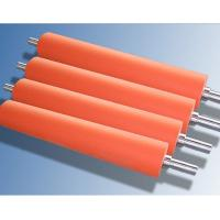 Wholesale Hot Stamping Foil Silicone Rubber Roller Food Grade Silicone , Aluminum Hub Material from china suppliers