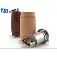 Buy cheap Wooden Wine Barrel 1GB Pendrives USB Metal Stick Free Key Ring from wholesalers