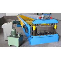 China G550 Galvanized Embossment Steel Flooring Deck Plate Roll Forming Machinery 22KW on sale