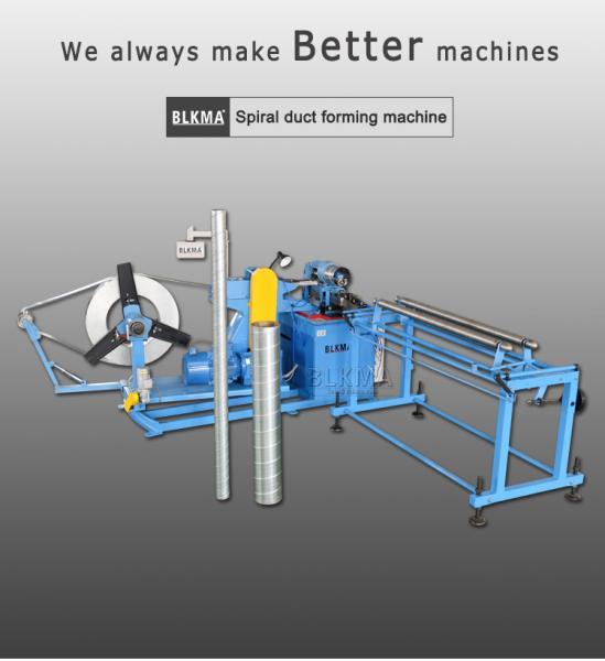 BLKMA made Round tube spiro machine / spiral duct machine for spiral round pipes