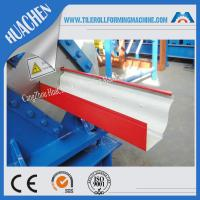 Wholesale Hydraulic gutter roll forming machine , ISO Steel rollform equipment Customization color from china suppliers