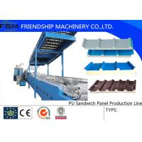 Wholesale Colored Steel PU Sandwich Panel Production Line , Roof Panel Roll Forming Machine from china suppliers