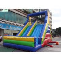Wholesale Red / Yellow / Blue Commercial Inflatable Slides With Multiple Climbing Ways from china suppliers