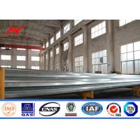 Wholesale Transmission Line Hot Dip Galvanized Steel Power Pole 33kv 10m Electric Utility Poles from china suppliers