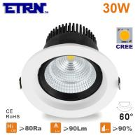 Wholesale ETRN Brand CREE COB LED 5 inch 30W LED Downlights Ceiling Lights Recessed lights from china suppliers