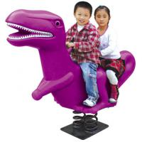 Wholesale double people seat kids rocking horse plastic rider with spring from china suppliers