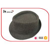 Wholesale Blended Pongee Summer Ladies Trilby Hats 59cm With Matched Hatband from china suppliers