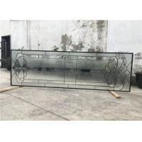 Wholesale Black Patina Sliding Glass Door Double Glazed Telescopic Tempered Glass from china suppliers