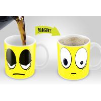 Quality Smile Magic Mug with Blue /Yellow /Red /White colors options Eco Friendly Travel Mugs for sale