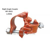 Wholesale Painting Red 90 degree Scaffolding Double Coupler right angle for Pipe clamp from china suppliers