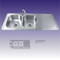 Wholesale American Standard Stainless Steel Kitchen Sinks Undermount , Double Bowl 380X320 from china suppliers