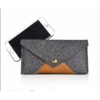 Wholesale Promotional high quality Felt Cell Phone Pouch,Cheap Felt Phone Case from china suppliers