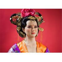 Wholesale Sexy Girl Museum Wax Figures Of Tang Dynasty / Realistic Wax Sculptures from china suppliers