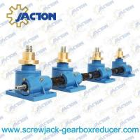Wholesale 1 Ton Machine Screw Jack Lifting Screw Diameter 24MM Lead 4MM Gear Ratio 6:1 and 24:1 from china suppliers