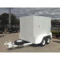 Wholesale 10x5 Fully Enclosed Tandem Trailer , Single Axle Enclosed Trailer With Brakes & Ramp from china suppliers