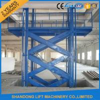 Wholesale Warehouse Material Handling Equipment Stationary Hydraulic Scissor Lift with CE from china suppliers