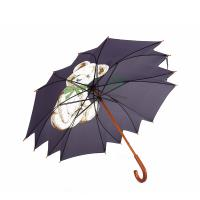Wholesale High Quality Cute Design Printing Wooden Umbrella with Flower Shaped Edge Canopy from china suppliers
